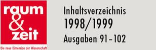 Inhaltsverzeichnis 1998/1999