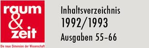 Inhaltsverzeichnis 1992/1993