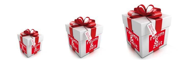 raum&zeit-Geschenkgutscheine