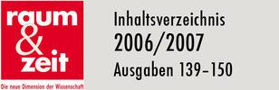 Inhaltsverzeichnis 2006/2007