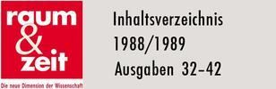Inhaltsverzeichnis 1988/1989