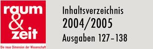 Inhaltsverzeichnis 2004/2005